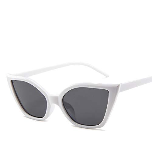 SHENY Occhiali da Sole Donna Cat Eye Luxury Occhiali da Sole Vintage Occhiali da Sole Piccoli Bianca