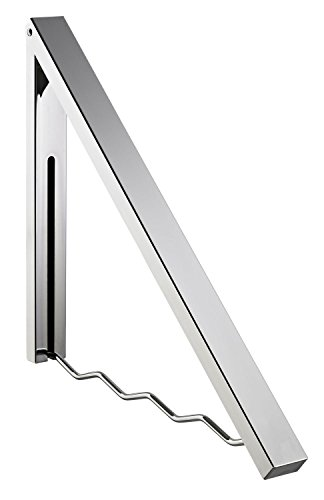 Alco Wandgarderobe, ausklappbar, Silber, 58 x 6 x 4 cm