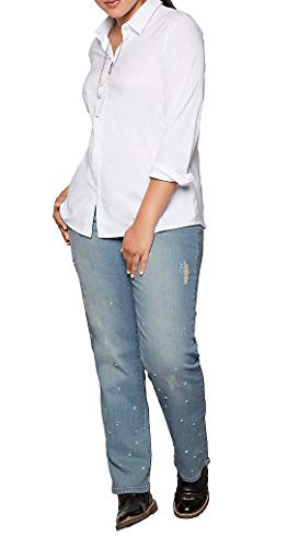 Sheego - Jeans da Donna con Strass Mix Blu Chiaro 58