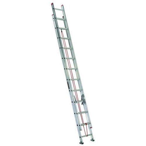 LOUISVILLE LADDER L-2324-28 Aluminum Iii Ext Ladder, 28'
