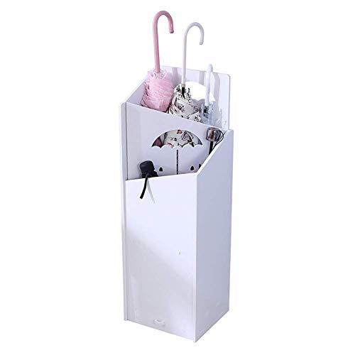 MY1MEY Portaombrelli Bianco Quadrato con Vassoio antigoccia, portaombrelli Lungo/Corto per L'Ufficio Principale della Hall dell'hotel, Stile Opzionale (Colore: Stile 1)