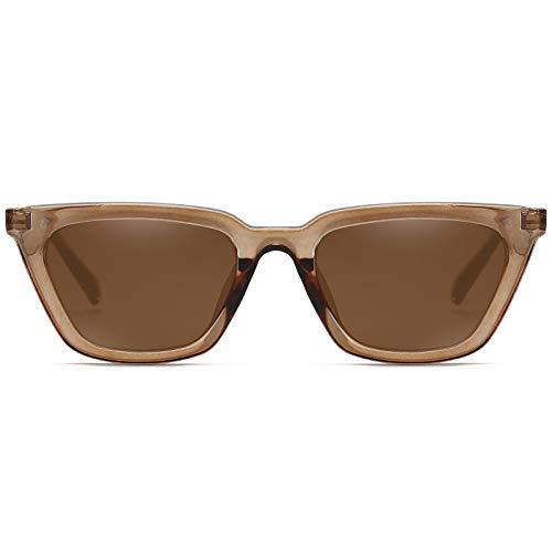 MAGIMODAC Gafas de sol para mujer, diseño retro de ojos de gato, protección UV