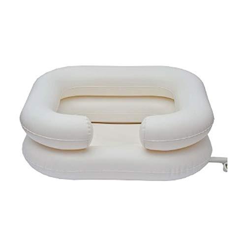 Kit lavacabezas hinchable, Teja, Capacidad de la cuenca: 10 L, Capacidad del depósito de agua: 7 L