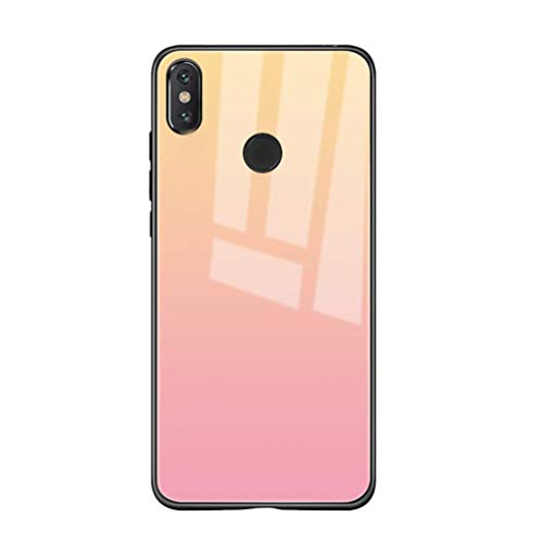 Riyeri - Carcasa para Xiaomi Mi Mix 2S/Mix 3 degradado, carcasa trasera de cristal protector [Shock-Absorción] (G, Mi Mix 2S)