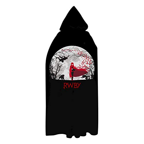 HOLLWIN Ruby Rose Halloween Cloak Unisex Long Hooded Robes Cape Witch Costume for Kids Adults Adults M: 51'