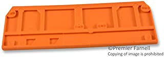 280-315 - End/Intermediate Plate, For Use With WAGO 280 Series DIN Rail Mounted Terminal Blocks, Orange, (Pack of 20) (280-315)