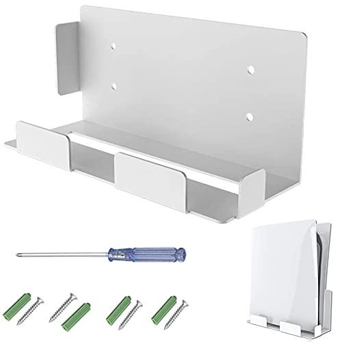 Soporte de Montaje en Pared para PS5, KEEHOM Soporte para Accesorios Consola PS5 de Montaje en Pared PS5 con Destornillador y Tornillos, Accesorio Multifuncional para PS5