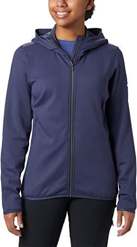 Columbia Windgates, Forro polar con capucha, Mujer , Color: Azul (Nocturnal), Talla: S