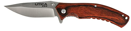 UTICA USA SINCE 1910, 11-1045CP Woodsman Folding Liner Lock with Nylon Washer Pocket Knife, Made in...