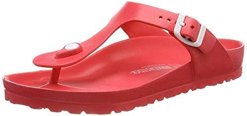 BIRKENSTOCK Unisex Gizeh Essentials EVA Sandals, Coral, 40 R EU