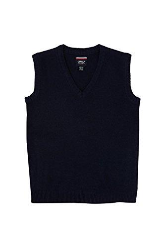 French Toast Men's V-Neck Sweater Vest, Navy, X-Large