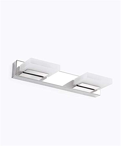 Wandspiegel licht led acryl anti-mist spiegel koplampen roestvrij staal spiegel kast licht badkamer toilet dressoir spiegel waterdichte muur lamp badkamer muur licht, wit, 2 lichten
