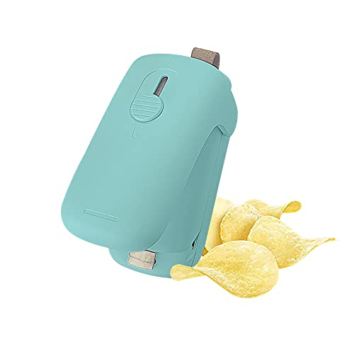 STRINO Mini Household Sealer, Handheld Pouch-type Heat Vacuum Sealer, 2 in 1 Sealer and Paper Cutter, Portable Pouch Sealer, Food Preserver for Plastic Bags (Green)