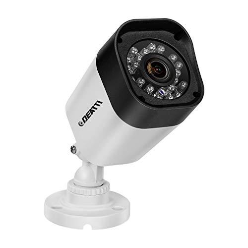 DEATTI 1080P HD Telecamera di sorveglianza AHD IR visione notturna a infrarossi, telecamera di sicurezza per esterni, impermeabile, orientabile, per esterni, colore nero