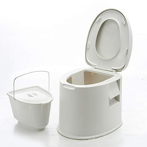 Multi-Functie Draagbaar Toilet, Upgrade En Verhoog De Oudere Draagbare Loo, Tweelaags Cover met Opbergdoos voor Zwangere Vrouwen Camping Toilet, Camping Toilet Emmer