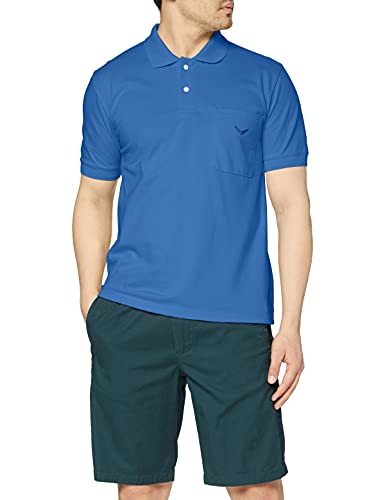Trigema Herren Poloshirt , Blau (Electric-Blue 048) , XXXXX-Large