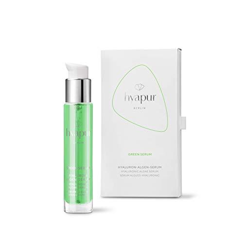 hyapur ® - GREEN Serum 15ml, für einen ebenen Teint und wache Augen, mit Hyaluronsäure und Algenextrakten für Gesicht, Hals und Dekolleté - aus der Hyaluron Algen Serie