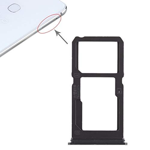 Teléfonos Móviles piezas de repuesto Titular de reemplazo Parte tarjeta SIM del zócalo del adaptador tarjeta SIM Bandeja Bandeja + bandeja de tarjeta SIM / Micro SD Card for Vivo X21i (Negro)