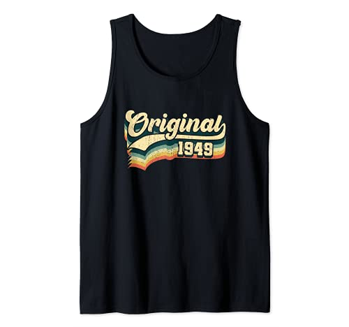 72º Cumpleaños Regalo Original Hombres Mujeres Vintage 1949 Camiseta sin Mangas