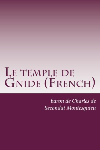 Le temple de Gnide (French)