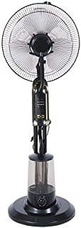 75W Potencia Agua Niebla Ventilador Aire acondicionado Ventilador Aire control remoto Control remoto Ventiladores eléctricos de 16 pulgadas con rociador de agua, ventilador enfriador de agua (black)