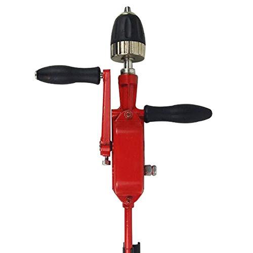 QPLKL Zimmerarbeiten 1 Set Handbohrmaschine 0.8-10mm Bohrfutter Zwei-Gang Handbohrmaschine Automatische Miniatur-Handkurbel Gewindebohrmaschine 360 * 215 mm (Color : RED)