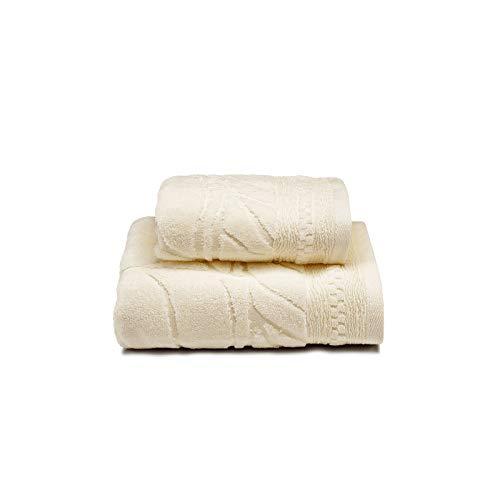 Caleffi Toalla con Invitados de algodón Aurora Crema - 82022
