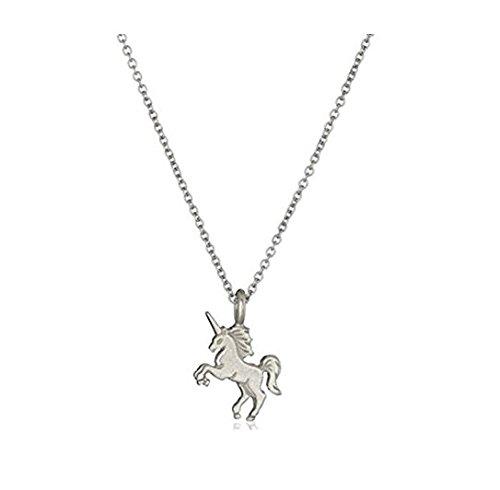 Collar de unicornio con colgante de aleación de plata, 1 unidad; pendientes de regalo de joyería para niñas y cumpleaños