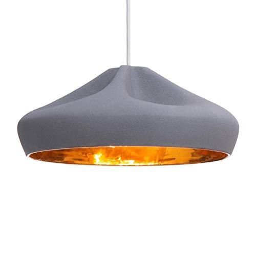 Pleat Box 36 - Suspension LED gris/or/Ø34cm