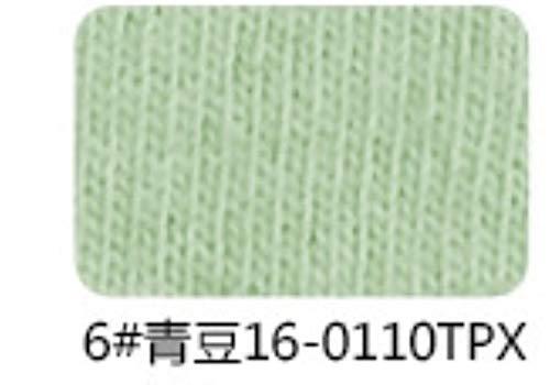 Cula Kammgarn-Stoff aus reiner Baumwolle für Damen, Kleid oder Überziehen, nicht weich, aber ein wenig grob wie Leinen, Grün 6, 50x170cm