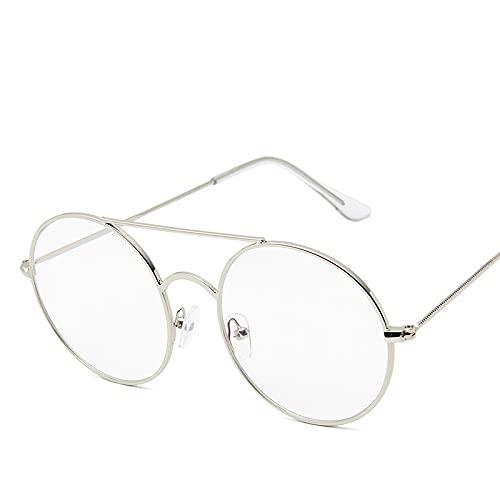 Moda Gafas De Sol Redondas Vintage Hombres Mujeres Moda Gafas De Sol De Metal Círculo Pequeño Gafas De Sol Rojas Espejo Reflectante Uv400 Gafas Silverclear