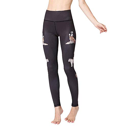 Dizadec Women's Printed High Waist Yoga Pants Various Styles Patterned Workout Leggings