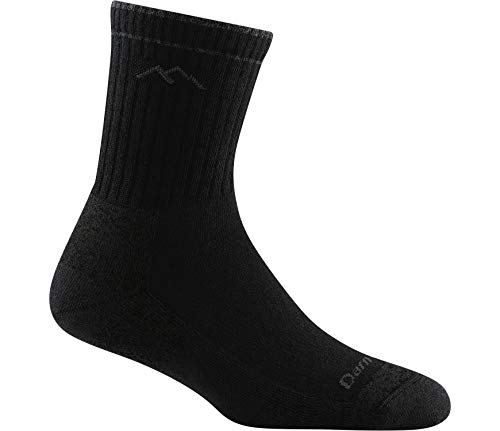 Darn Tough Hiker Micro Crew Cushion Sock - Men's - Black - Large