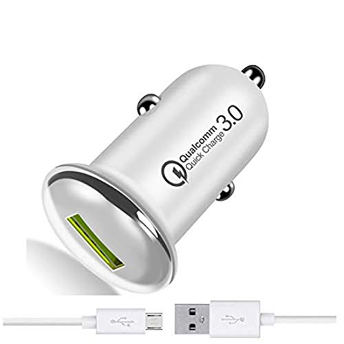 Fast Car Charger for HTC One (M8) CDMA,HTC One (M8) dual sim,HTC One (M8) for Windows Charger Original QC Car Charger Adapter | High Speed Rapid Fast Turbo QC 3.0 Android & Tablets Car Mobile Charger With Micro USB Charging Cable (3.1Ampere, QC SA4, Multi)