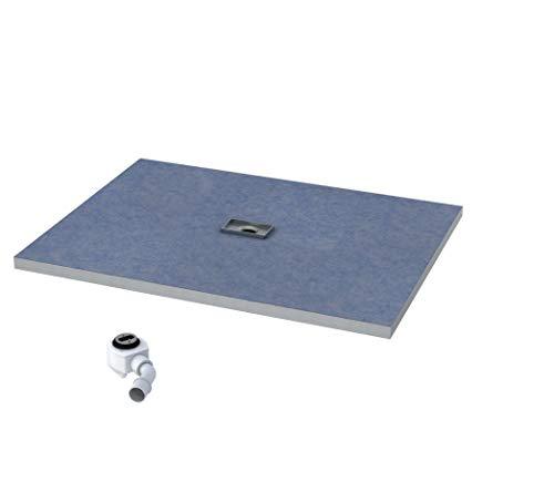 Duschelement 90x120x5/10,5cm Duschboard 4-seitiges Gefälle Extra Flach Beflisbar Duschrinne 8cm Abdeckung PLATE Ablauf Viega SHORTLINE S4