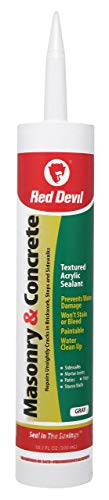 Red Devil 0646 Gray 10.1 Oz Cartridge Masonry and Concrete Acrylic Sealant Repair, 1 Pack