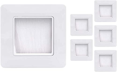 VCE Unterputzdosen Abdeckung Kabeldurchführung Wand Wandauslassdose für Kabeldurchführungen Kabeldurchlass Weiß 6 Stück