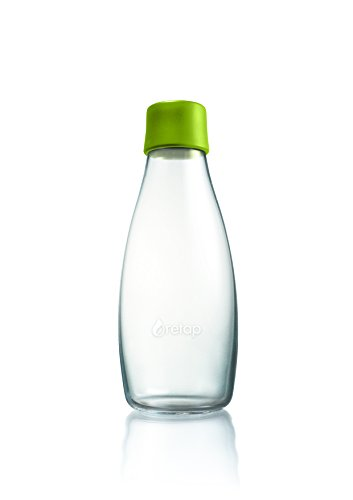 Retap ApS Medium Borosilicate Glass Water Bottle, Forest Green