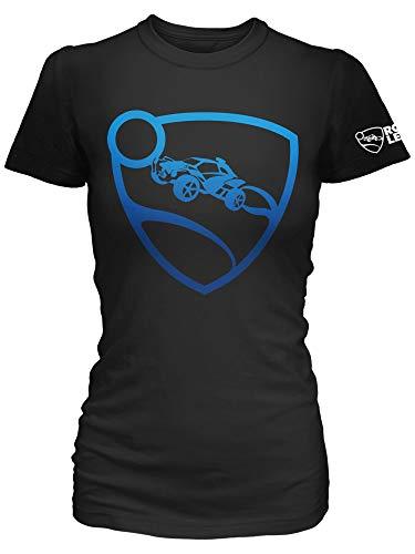 JINX Rocket League Blue Pro Glow Damen Gamer Tee Shirt - Schwarz - Groß