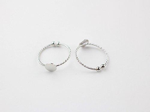 Ring onderdelen gemaakt van messing (delicate design ring tafel (vrij/schotel diameter 6 mm) 2 stuks zilver)