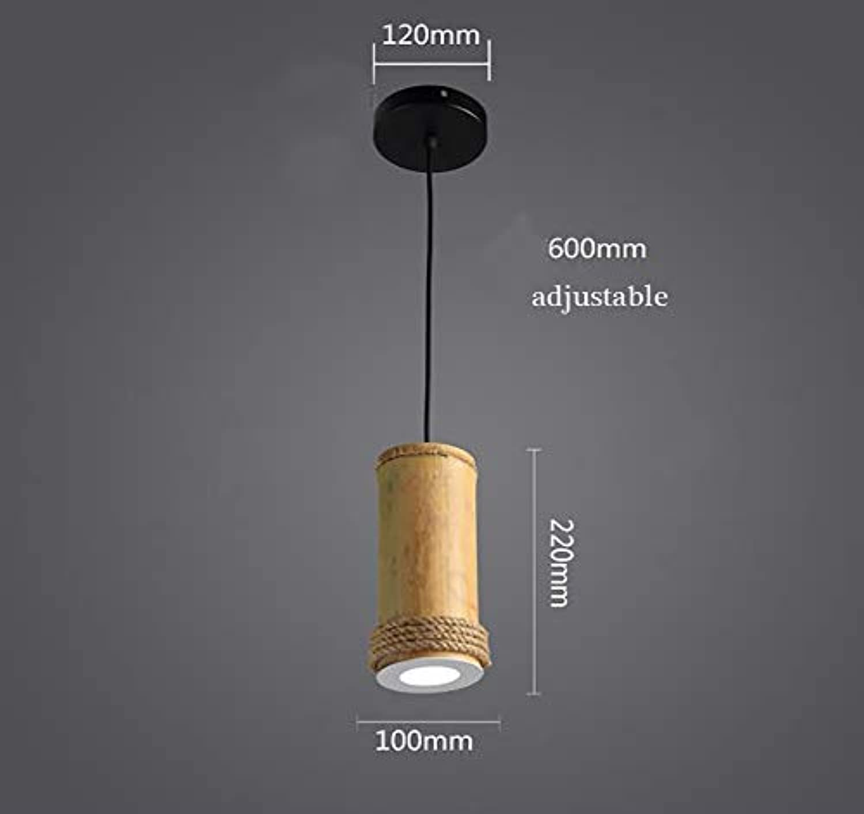 Bambus-rohr Seil Kronleuchter,retro-lampe Pendelleuchte ...