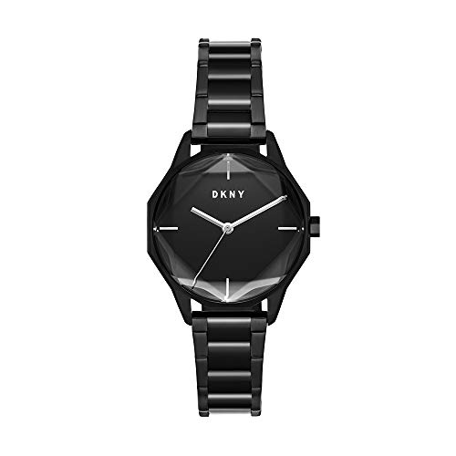 DKNY Women's Cityspire Quartz Watch with Stainless Steel Strap, Black, 16 (Model: NY2857)