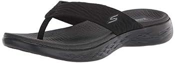 Skechers Women s ON-The-GO 600-SUNNY Flip-Flop Black 7 Medium US