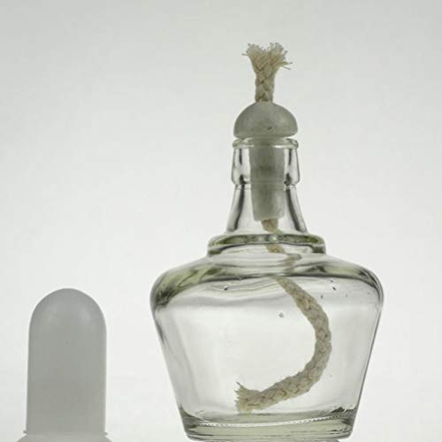 Uonlytech Mecha de Alcohol Mecha de algodón de Cuerda Quemador de mechas de lámpara de Aceite de Queroseno de algodón Redondo para lámparas de Aceite (20 Piezas 40...