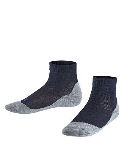FALKE Kinder Sneakersocken Active Sunny Days - Baumwollmischung, 1 Paar, Blau (Dark Marine 6170), Größe: 31-34