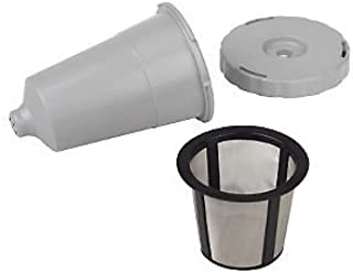 Reusable K-Cup coffee filter exclusive to the Keurig Home Brewing System - Keurig My K-Cup Replacement Coffee Filter Set 3 pieces Gray Color fits B31 B40 B50 B60 B70