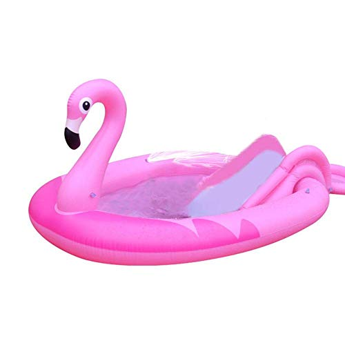 LIUCHANG Piscina Inflable, Piscina Inflable de Juego Inflable, Escalera de diversión de Agua con Patrones Especiales for Adultos niños liuchang20 (Size : Flamingo)