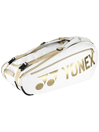 YONEX Limited Edition Pro 9 Pack Tennis Bag White/Gold