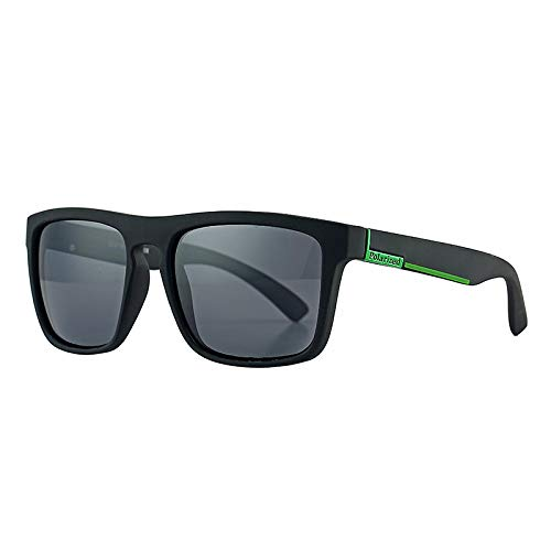 HAOMAO Diseñador de la Marca Retro Driving Shades Uv400 Gafas de Sol polarizadas para Hombres Mujeres Blackgreen