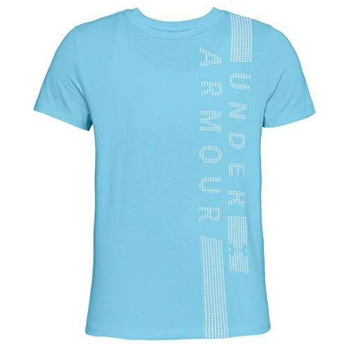 Under Armour Graphic Classic Crew Vertical Wm Short Sleeve Shirt Venetian BlueWhite Medium